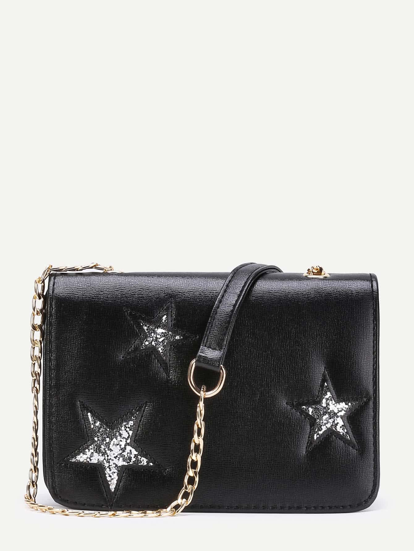 Фото Glitter Star Crossbody Bag With Chain. Купить с доставкой
