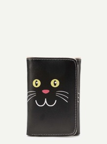 Cat Print Cute PU Purse