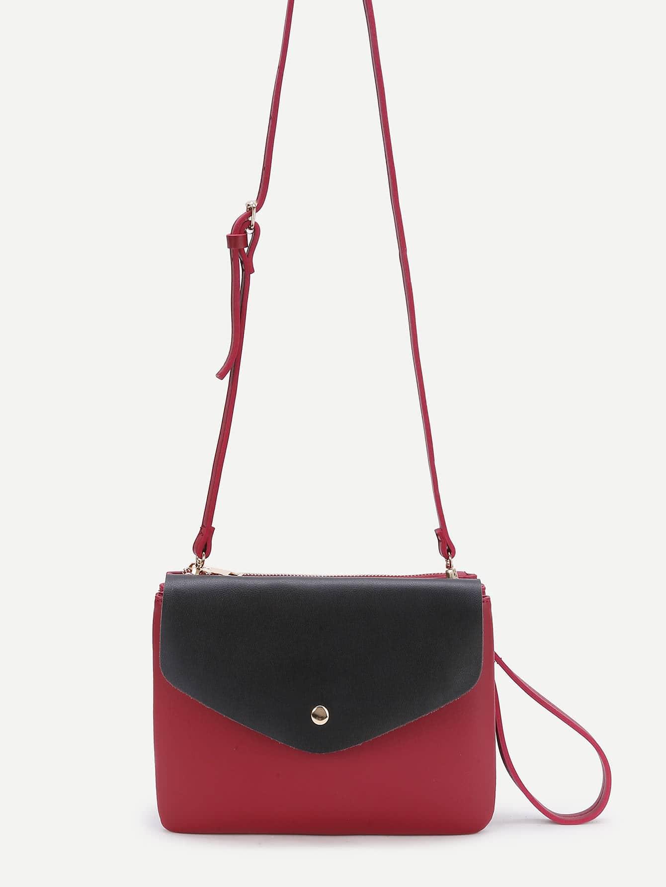 Фото Two Tone Removable Shoulder Bag With Clutch. Купить с доставкой