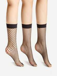 Модные носки в сеточку 3 шт.