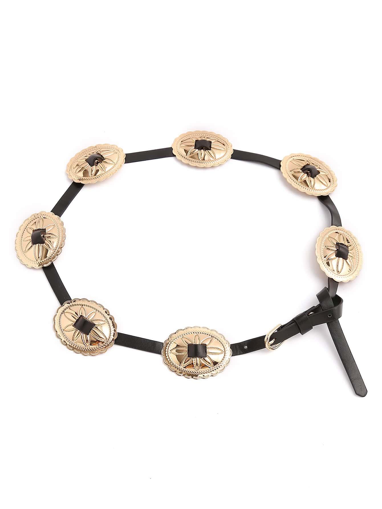 Фото Oval Metal Detail Knot Belt. Купить с доставкой
