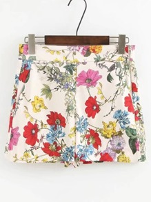 Shorts con estampado floral