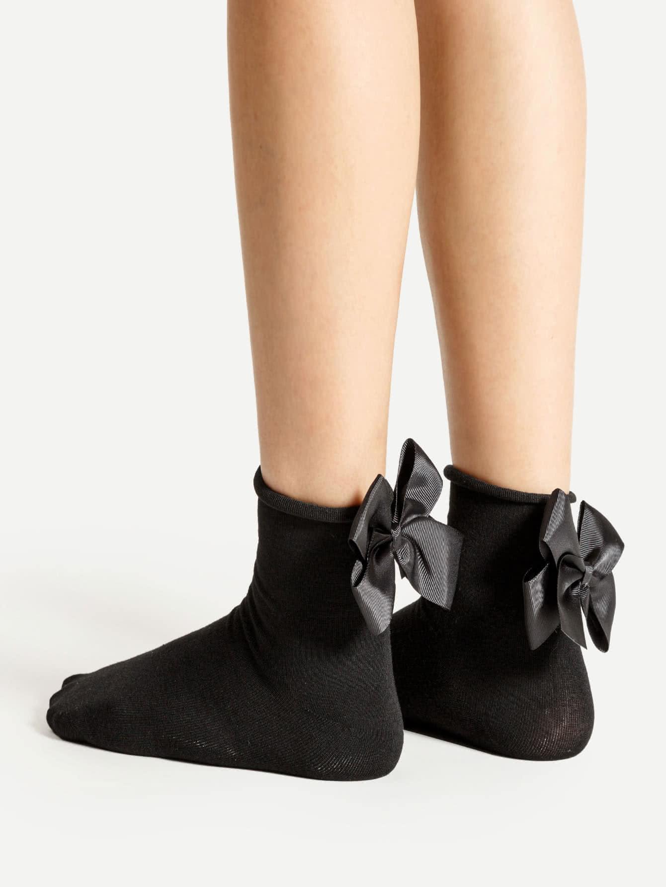 Bow Tie Back Ankle Socks