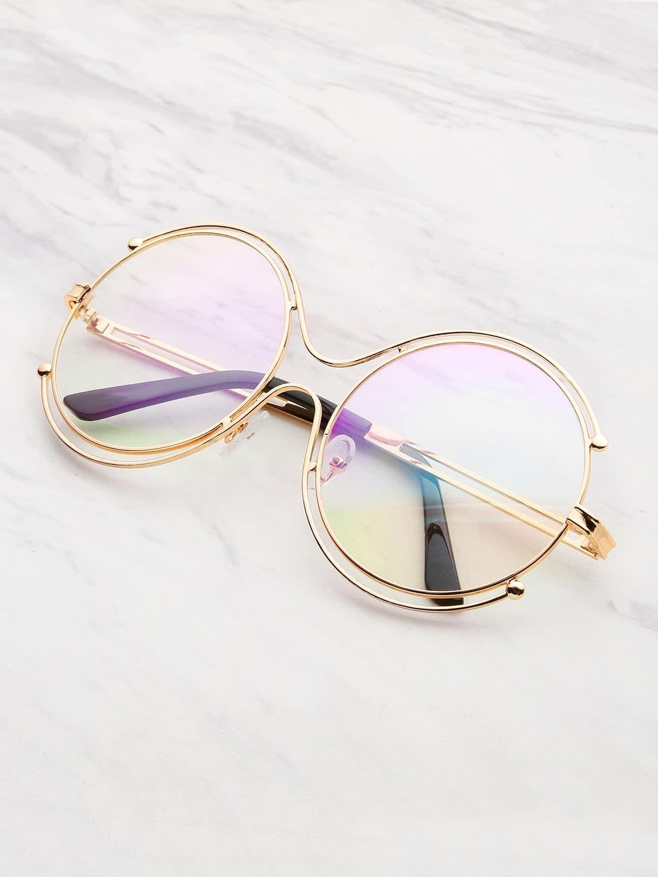 Фото Double Frame Round Lens Glasses. Купить с доставкой