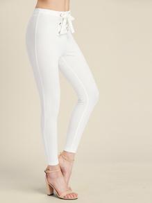 Grommet Lace Up Front Leggings