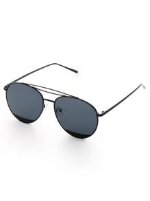Gafas de sol estilo aviador con puente triple