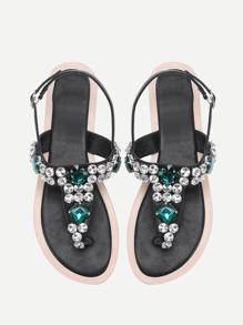 Sandales pierreries décorées avec lacets
