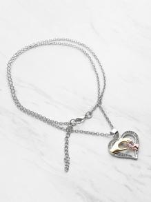Collana con pendente a forma di cuore