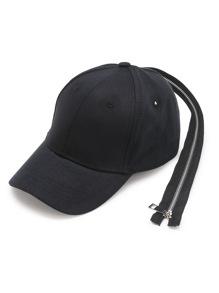 Gorra béisbol con diseño de cremallera larga