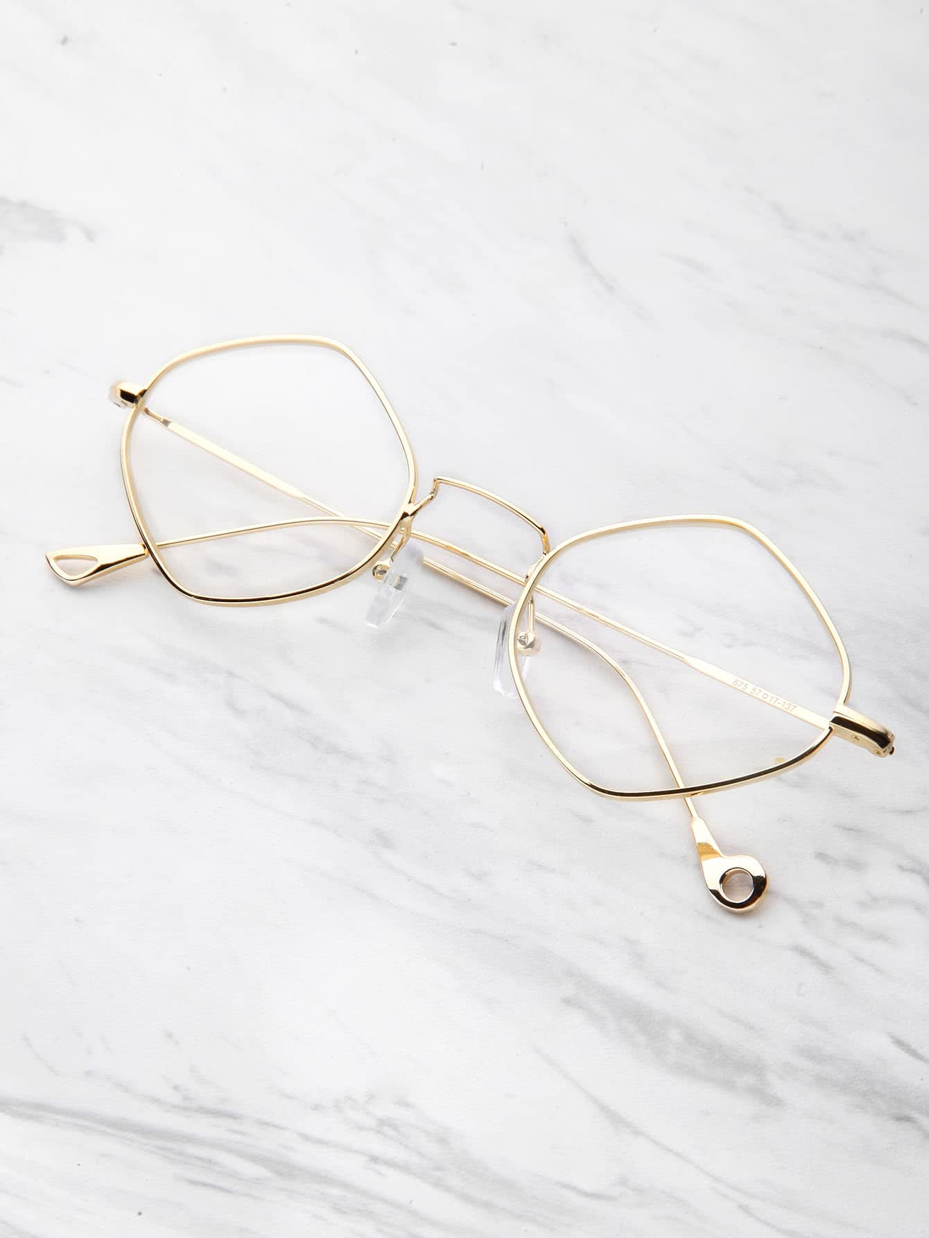 Contrast Frame Clear Glasses sunglass170526301