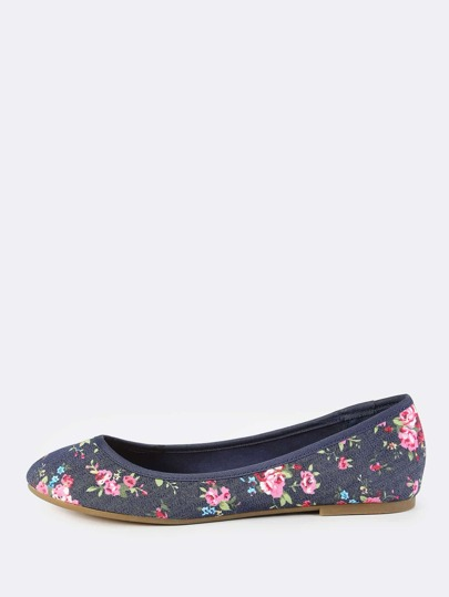 Denim Ballet Flats BLUE DENIM