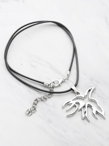 Bird Design Pendant Double Layer Necklace