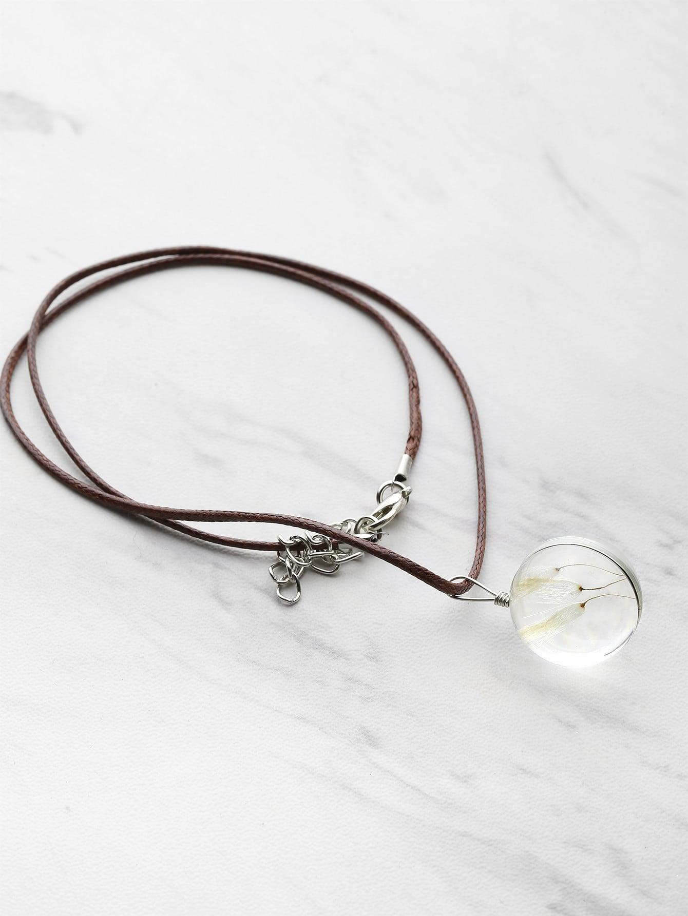 Фото Glass Dandelion Pendant Necklace. Купить с доставкой