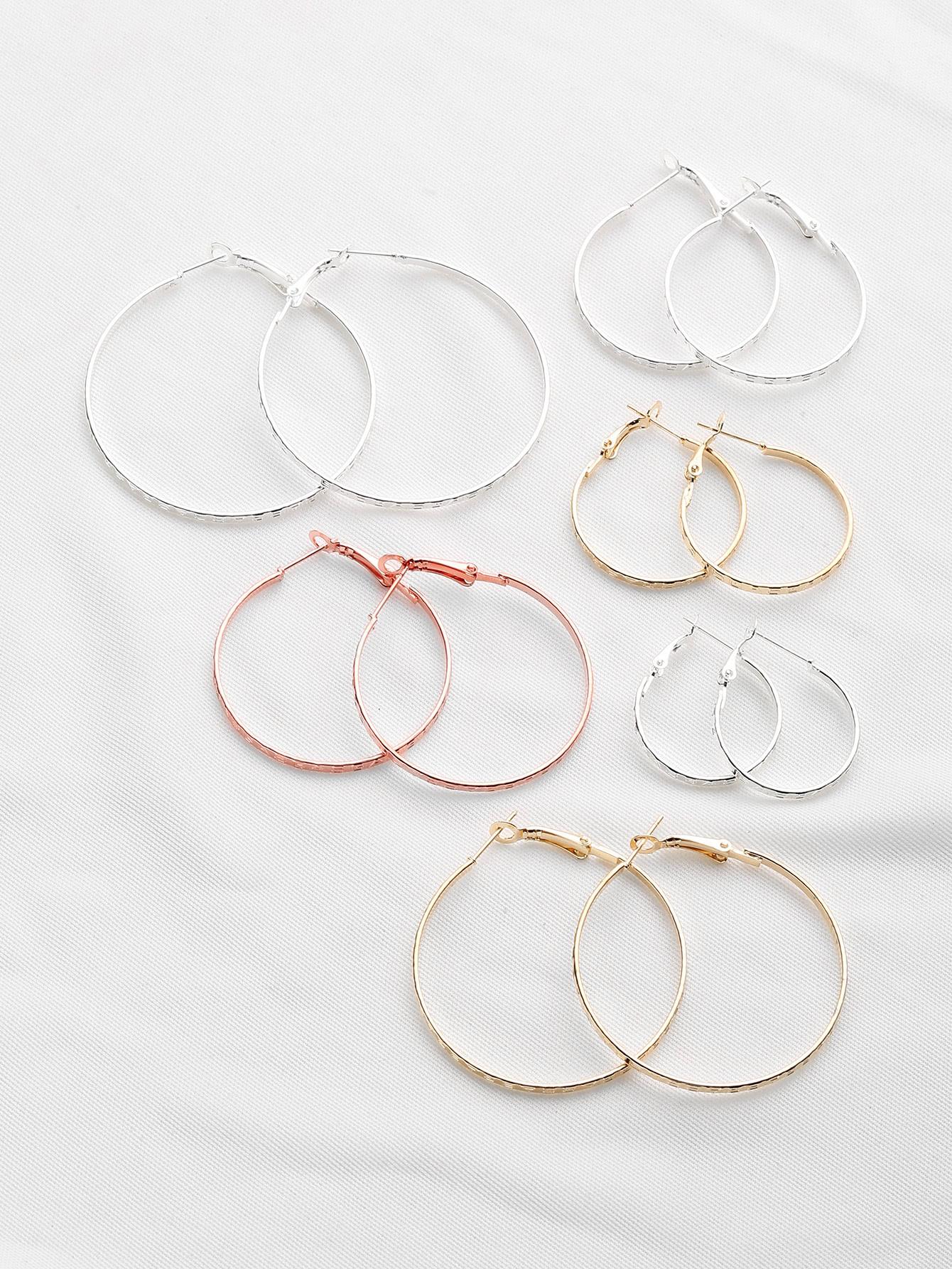 Фото Plated Hoop Earrings Set. Купить с доставкой