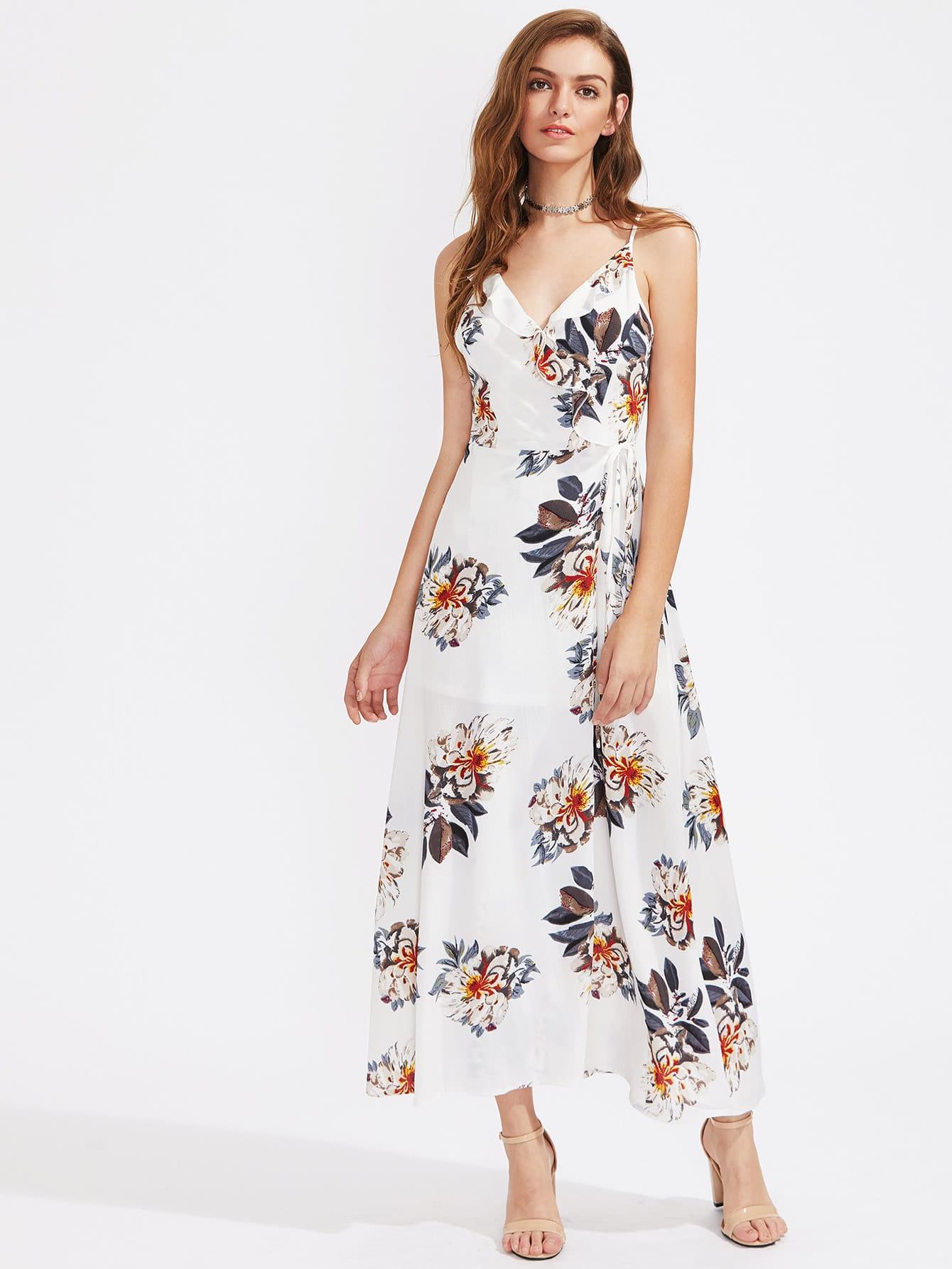 Фото Floral Print Frill Trim Cami Dress. Купить с доставкой