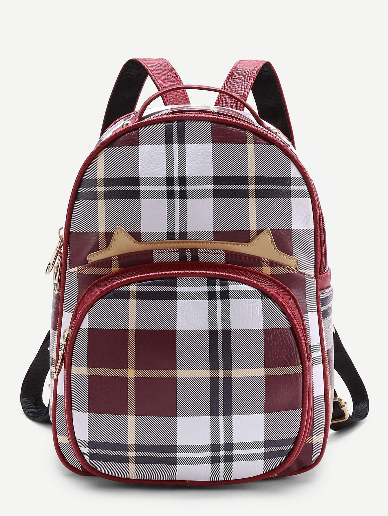 Фото Front Pocket Casual Plaid Backpack. Купить с доставкой