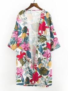 Kimono imprimé des fleurs