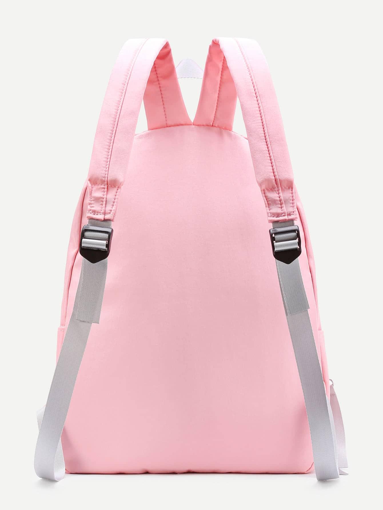 Mesh Pocket Design Canvas Backpack
