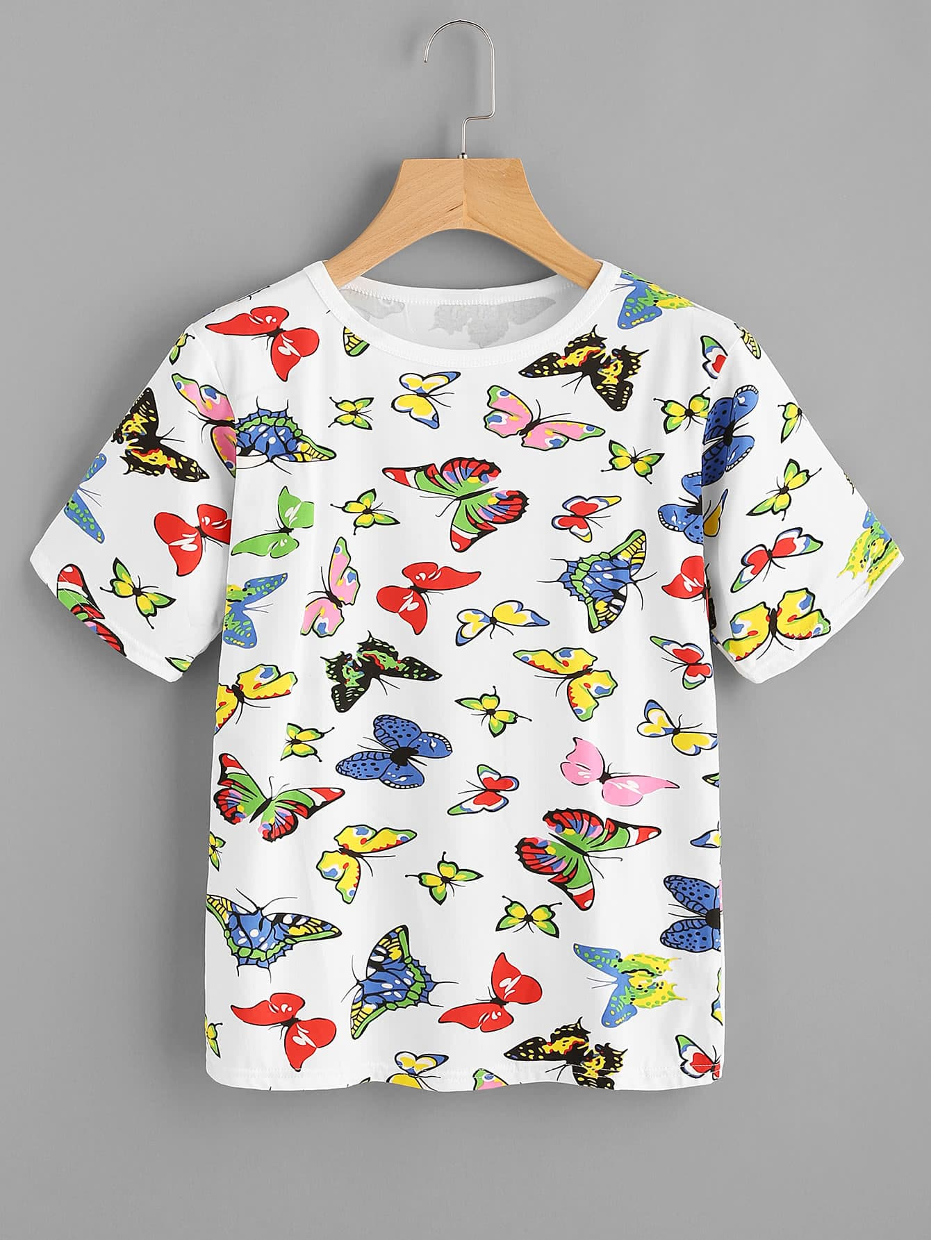 Allover Butterfly Print T shirt Apparel and Accessories Products
