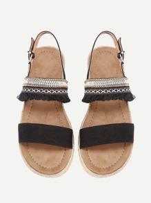 Sandales avec des franges