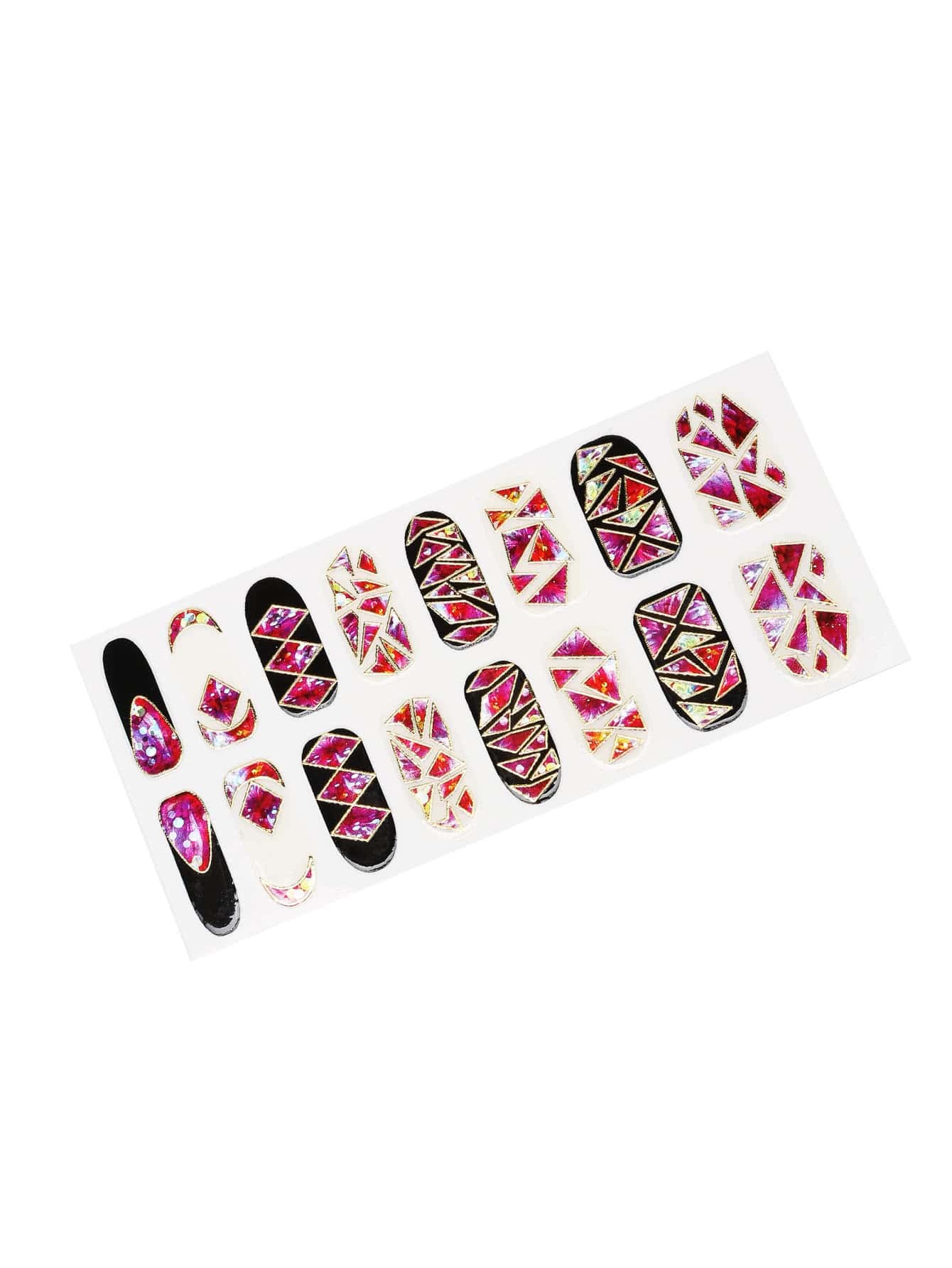 Фото Geometric Nail Art Sticker. Купить с доставкой