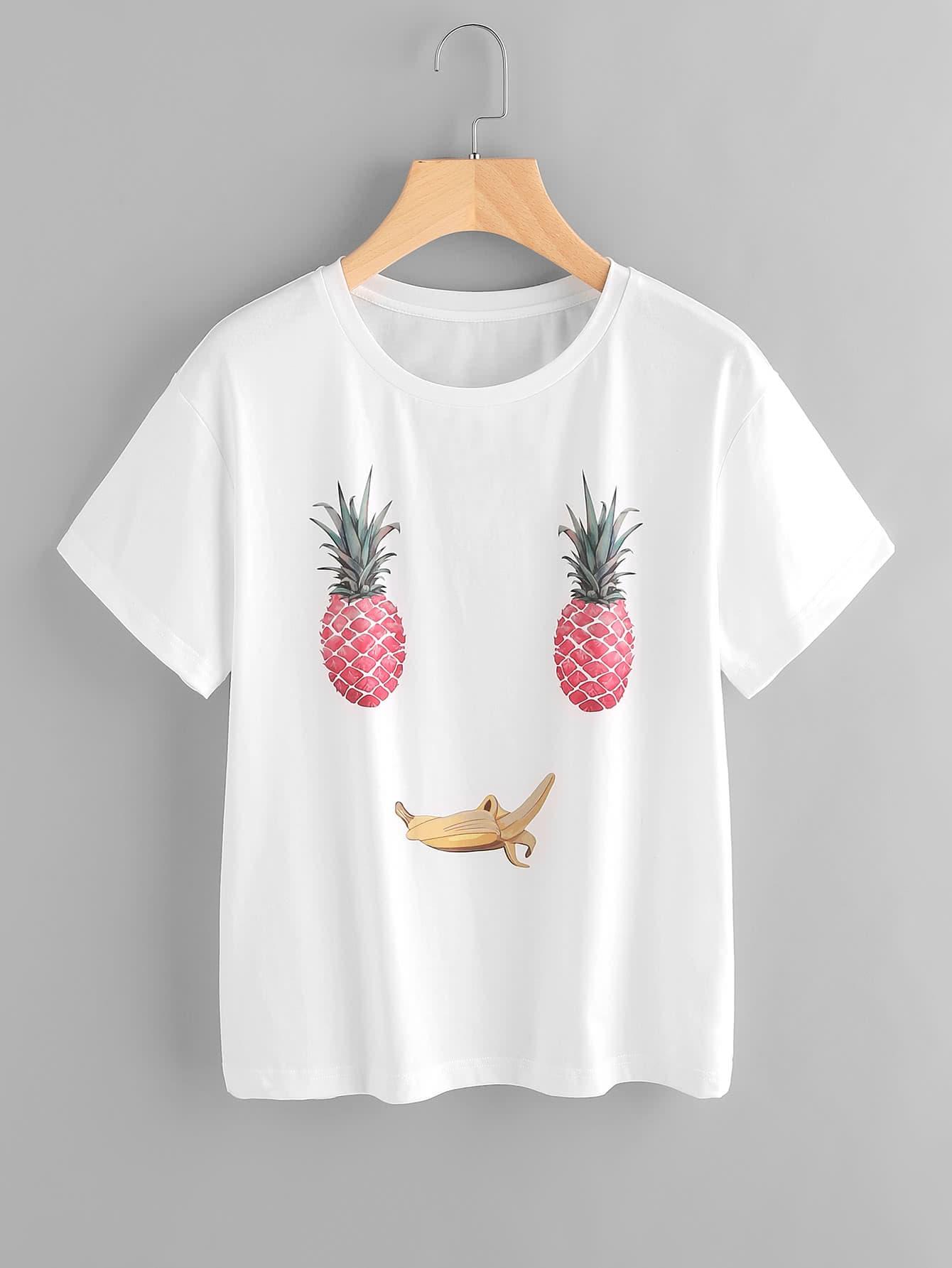 Фото Fruit Face Print Tee. Купить с доставкой