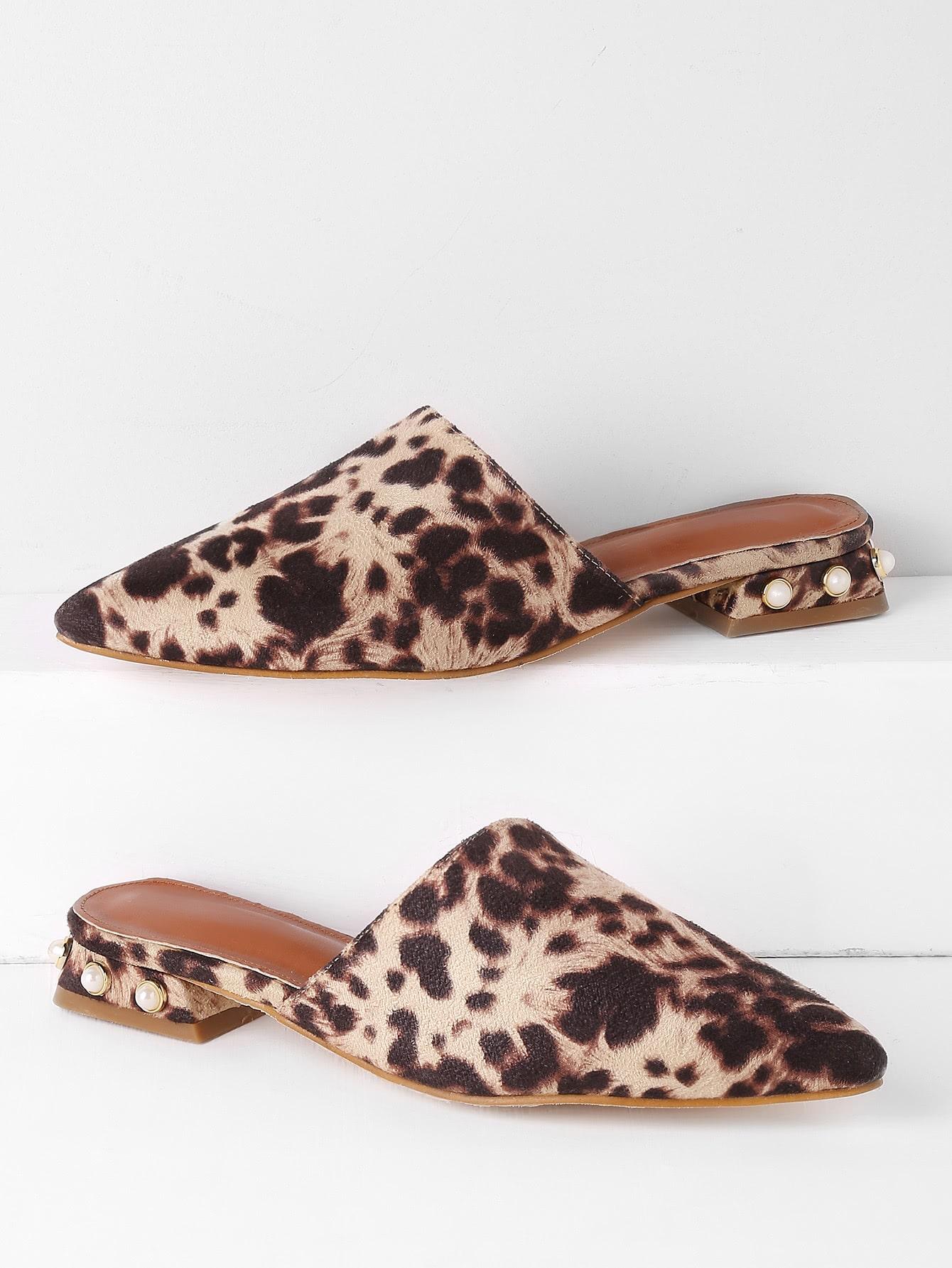 Фото Point Toe Lace Flat Slippers. Купить с доставкой