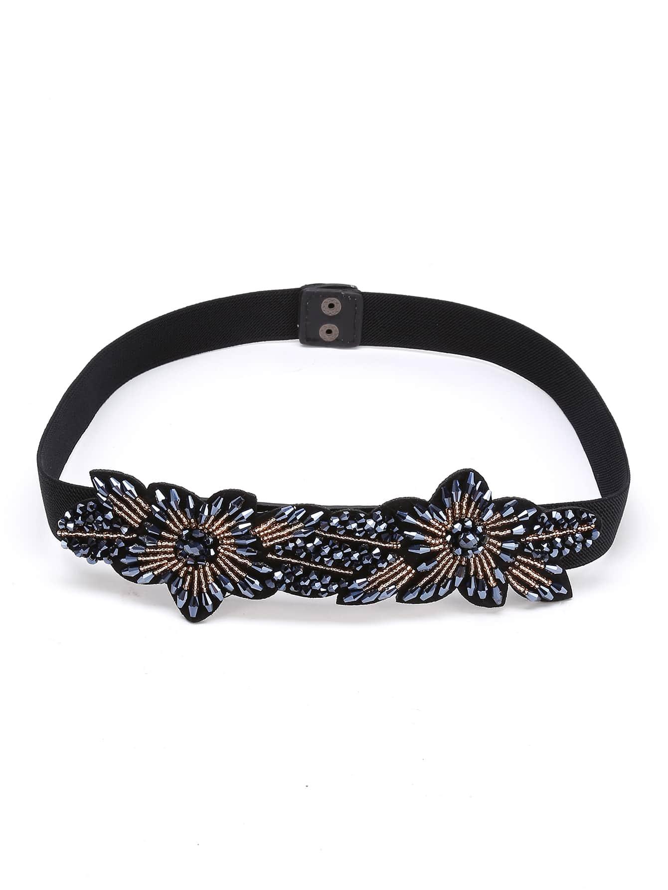 Фото Beaded Flower Embellished Belt. Купить с доставкой