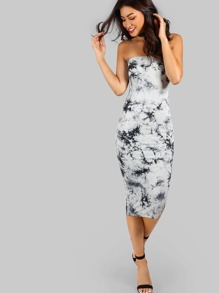 Floral Bandeau Midi Dress