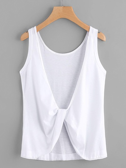 Twist Knot Back Tank Top