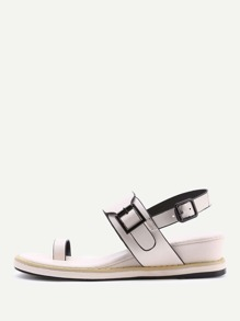 Toe Ring PU Sandals