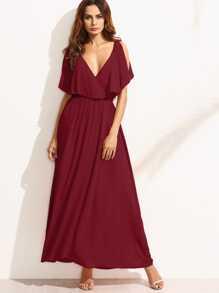 فستان طويل عارية الكتفين