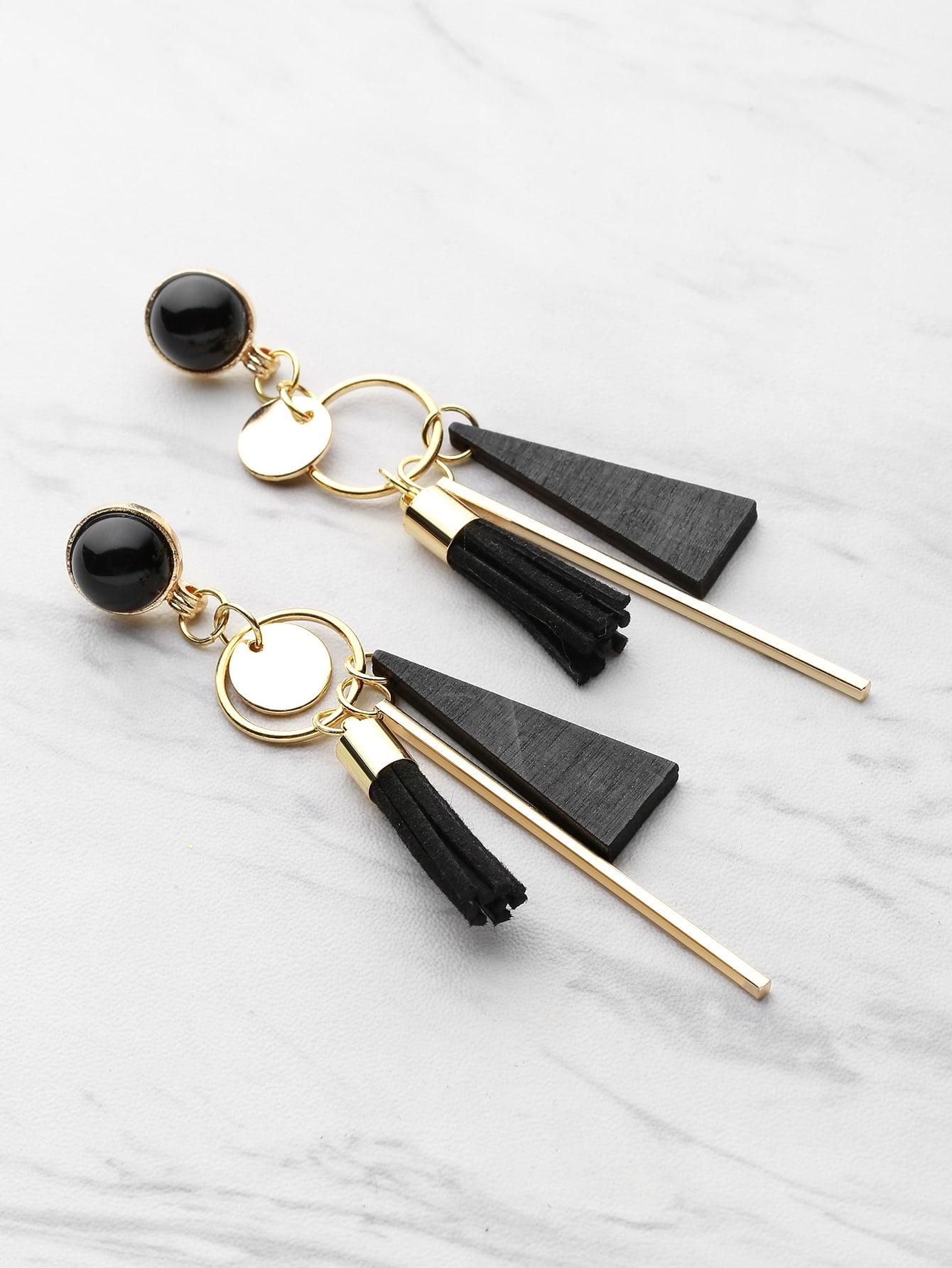 Купить Модные оригинальные серьги-подвески, null, SheIn