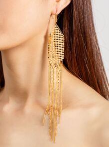 Pendientes en forma de flecos con adorno de lentejuelas