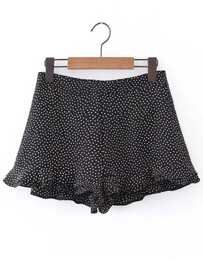 Shorts fruncido de lunares
