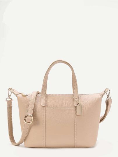 Metal Detail PU Grap Bag