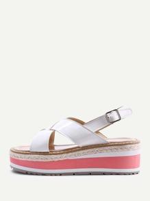 Sandales croisé en cuir