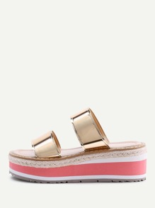 Sandales métallique en cuir