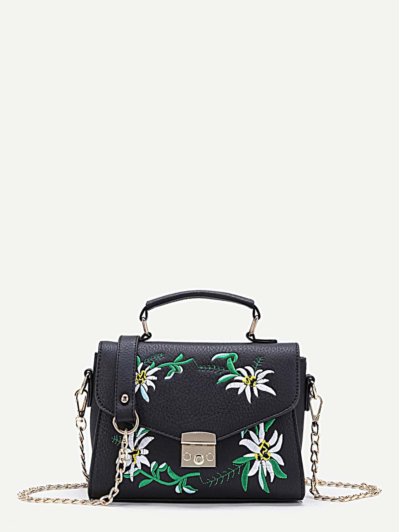 Фото Flower Embroidery Chain Bag. Купить с доставкой