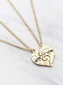 Heart Shaped Chain Necklace Set