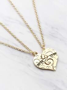 Set di collana a forma di cuore