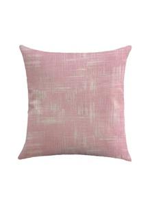 Funda de almohada de lino con estampado