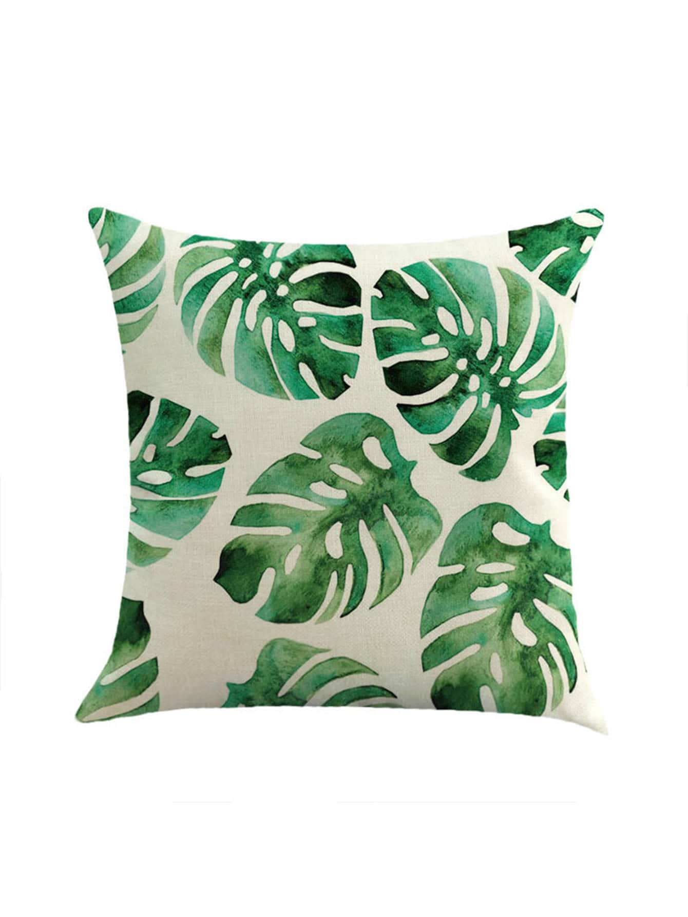 Multi Leaf Print Pillowcase Cover