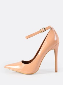 Ankle Strap Patent Pumps BURNT