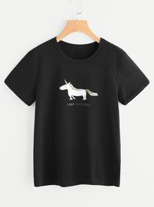 Tee-shirt imprimé de l'animation