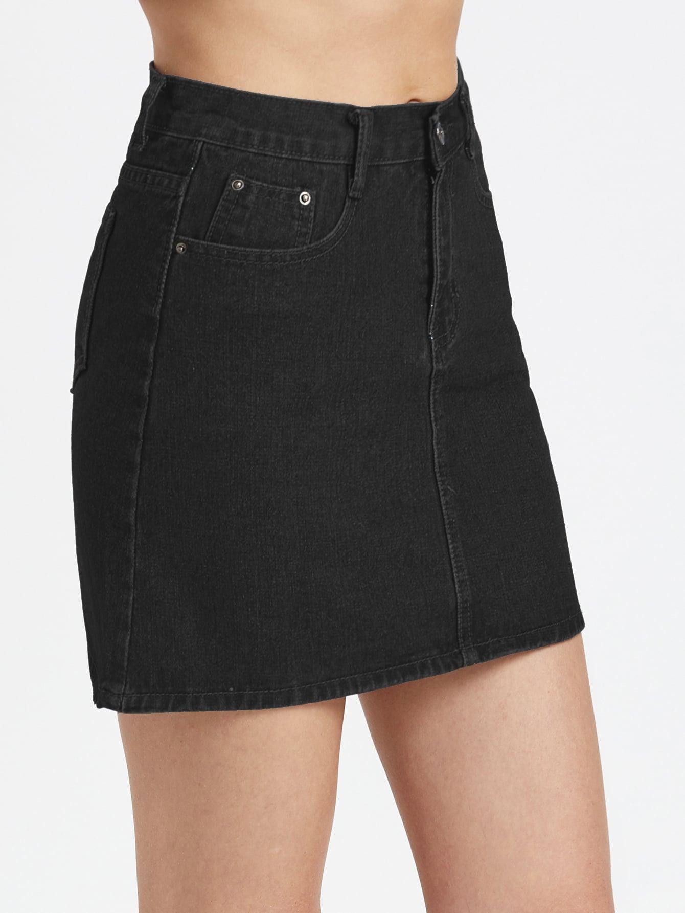 Image of 5 Pocket Denim Skirt
