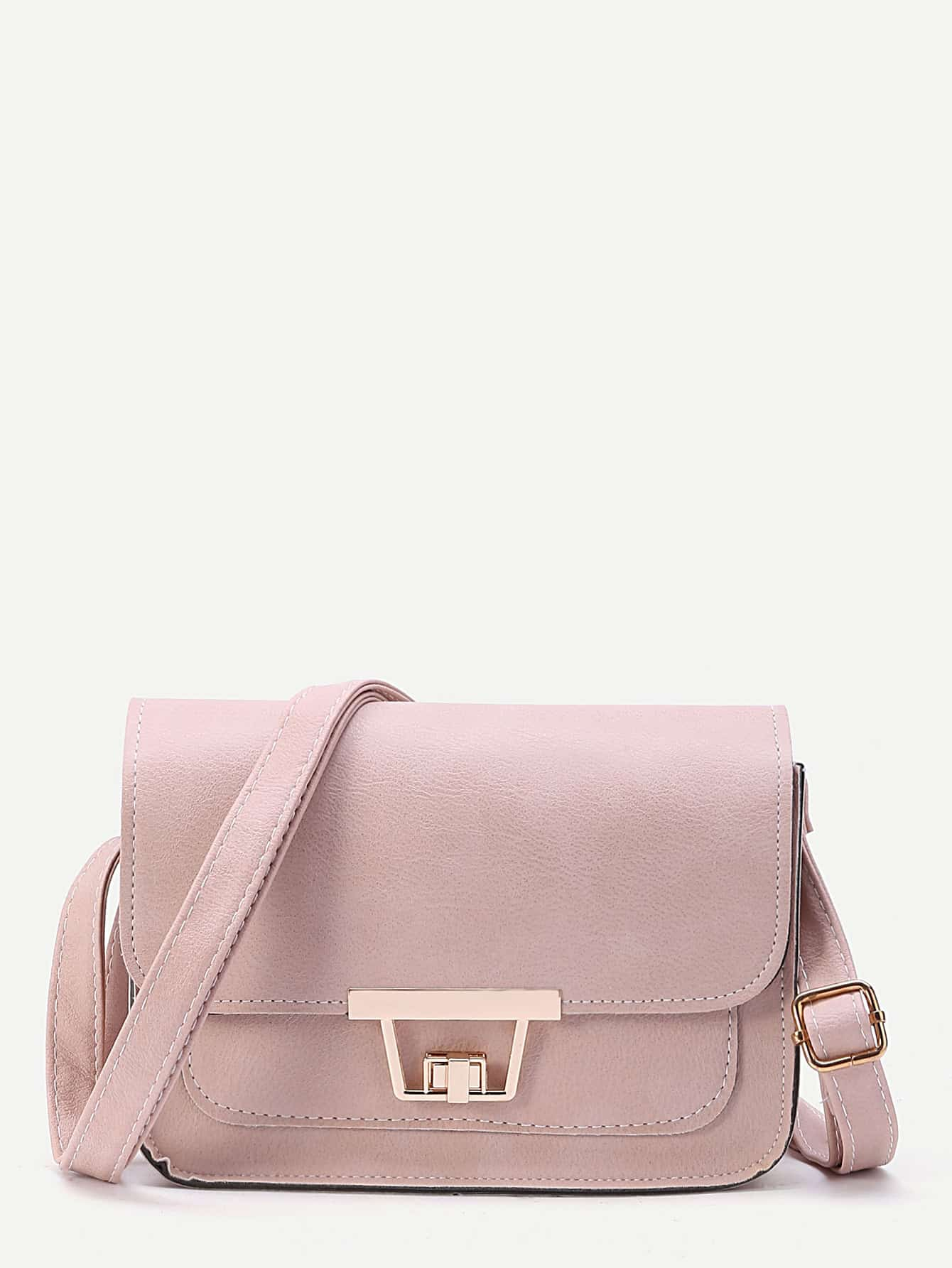Twist Lock Flap Crossbody Bag