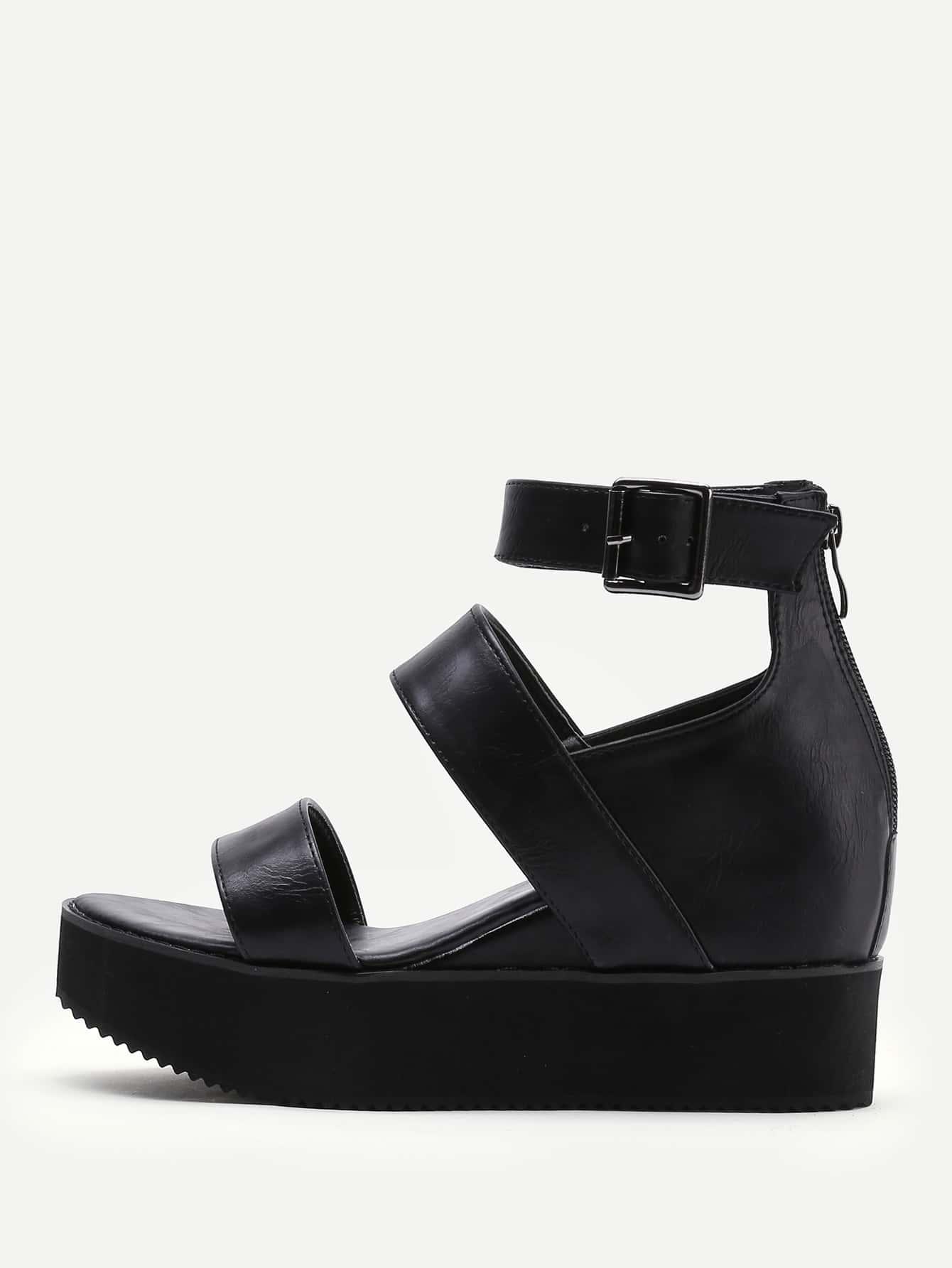 Фото Open Toe Platform Wedge Sandals. Купить с доставкой