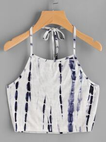 Halter Neck Water Color Top