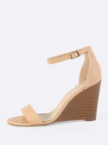 Ankle Strap Wedges NATURAL